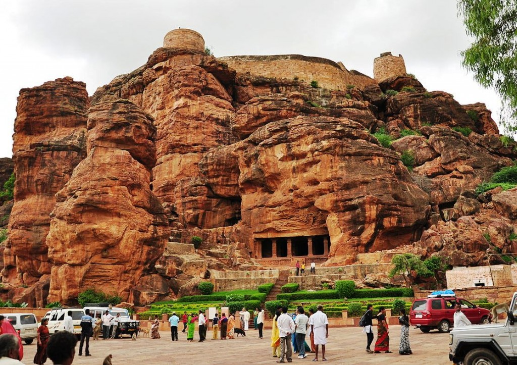 Badami_cave_temples_front_view