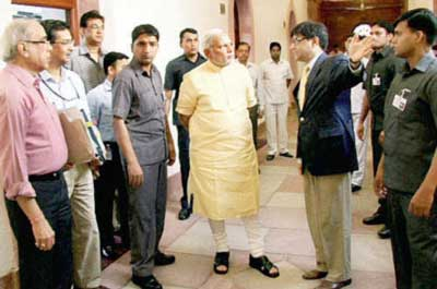 Modi with Officials