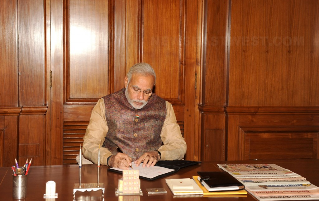 prime-minister-narendra-modi-on-his-first-day-in-office