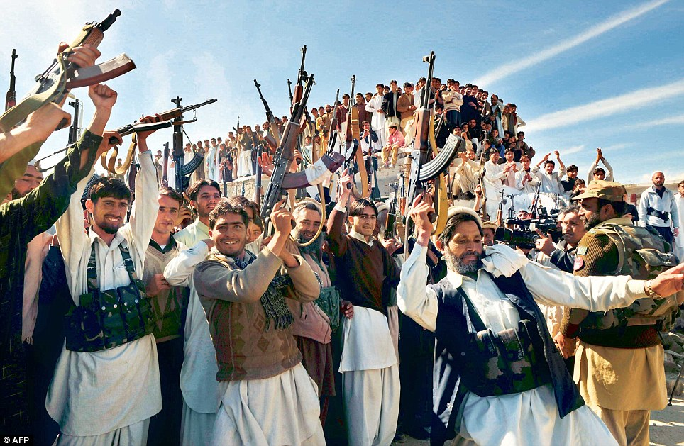 Tribal militias from Pakistan (in photo) are prime candidates for the Ghazwa-e-Hind  (Photo courtesy: dailymail.co.uk)