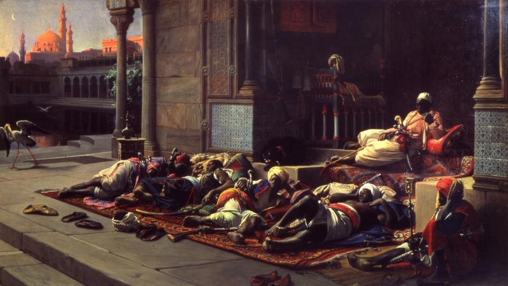 The Gate of the Harem · A painting by Jean Lecomte du Nouÿ, Year: 1896