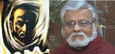 satish gujral's early work , a self portrait and himself, a photograh