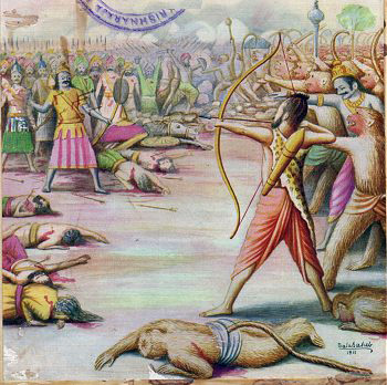Killing_of_Indrajit_Painting_by_Balasaheb_Pant_Pratinidhi