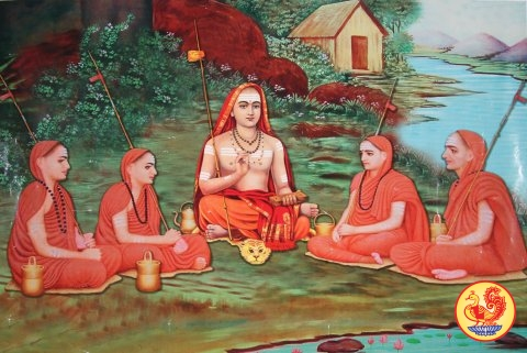adishankara-and-four-disciples